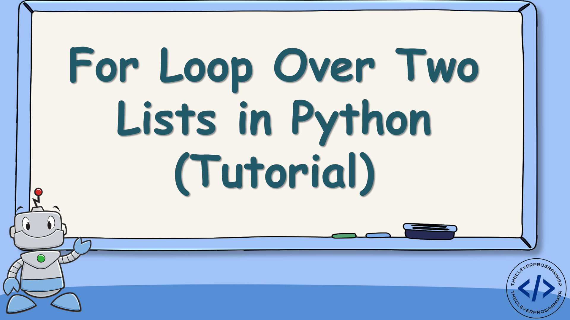 For Loop Over Two Lists in Python