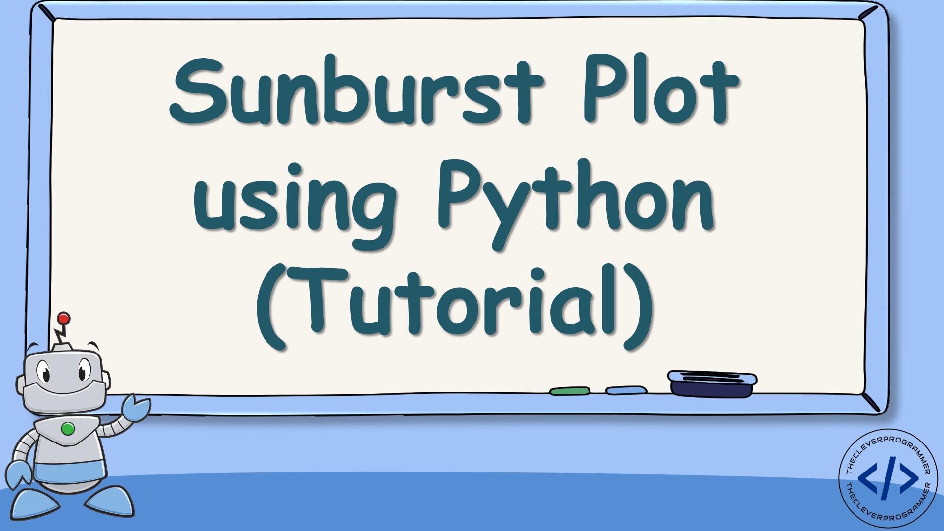 Sunburst Plot using Python