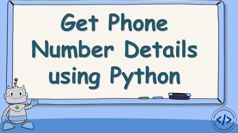 Phone Number Details using Python