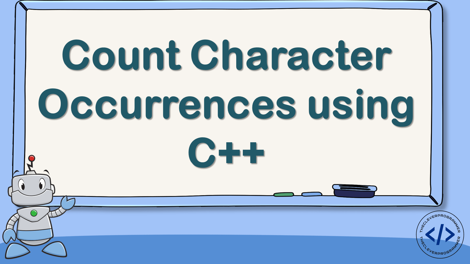 Count Character Occurrences using C++