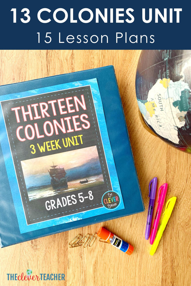 13 colonies lesson plans - 13 colonies primary sources