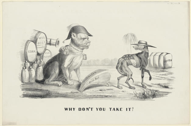 """""""Why don't you take it?"""" Political Cartoon"""