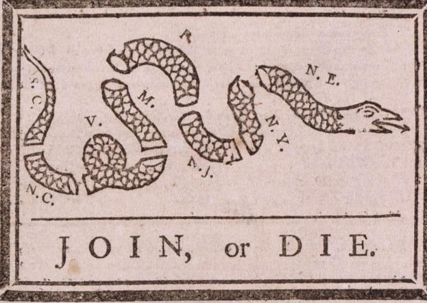 Join, or Die Cartoon (1754)