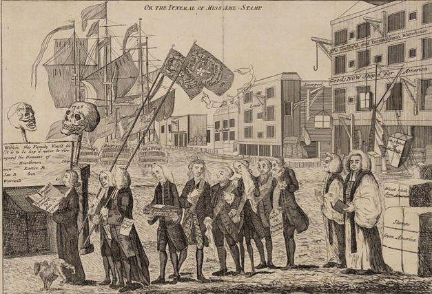 The Stamp Act Repeal Cartoon (1766)
