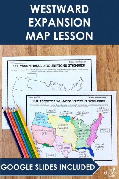 westward expansion map lesson