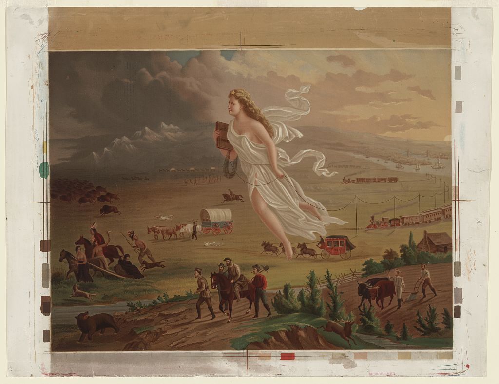 American Progress Painting - Westward Expansion Primary Source for Kids