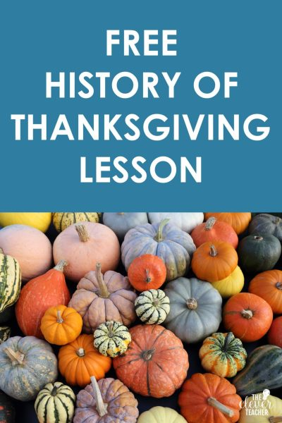 history of thanksgiving google slides