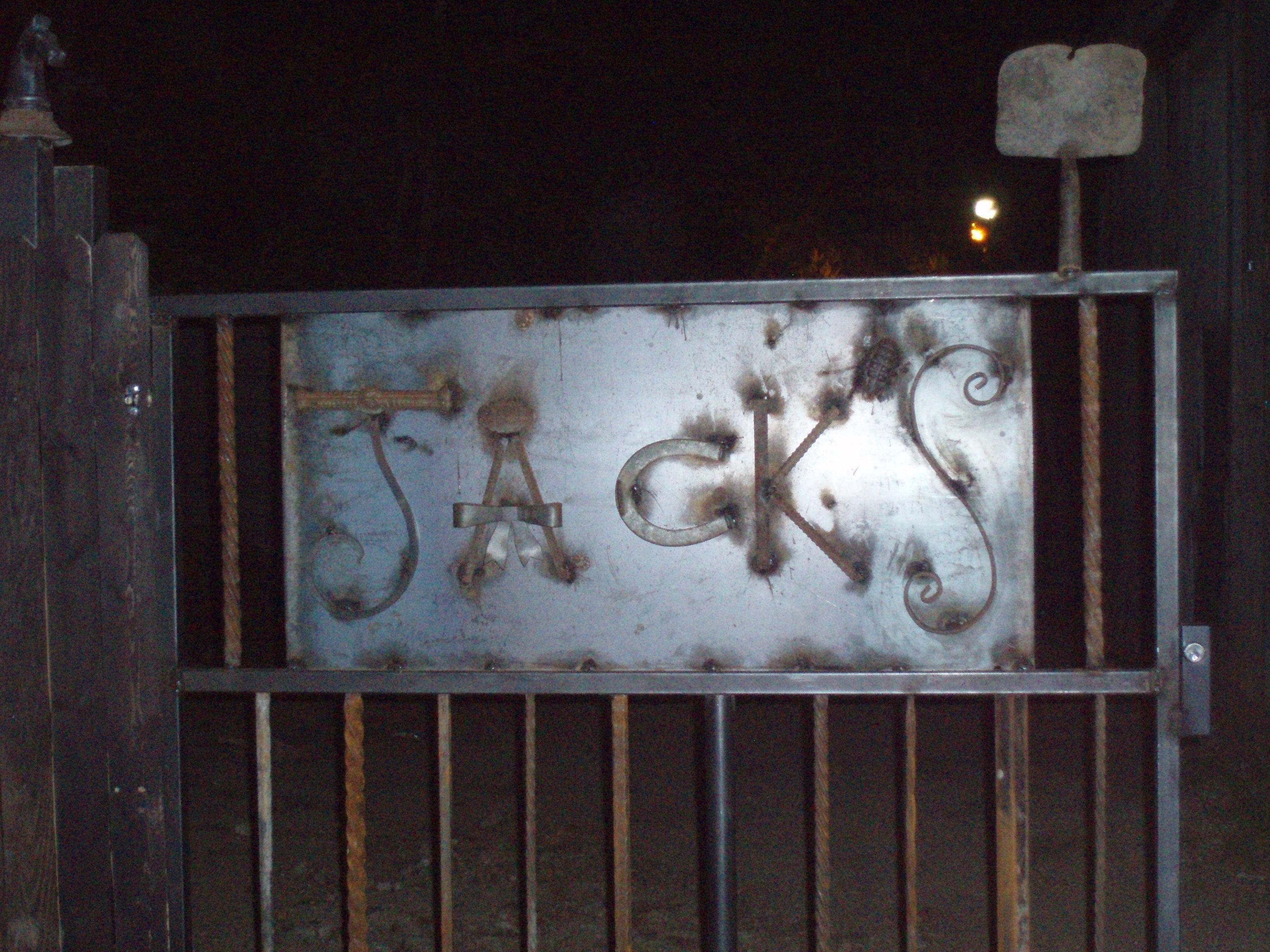 Jack's Backyard Sign