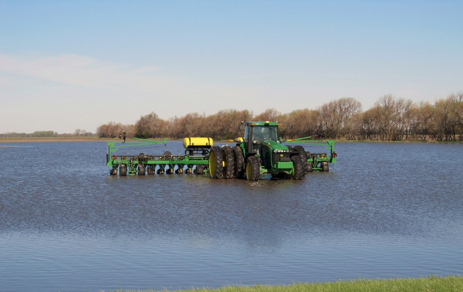 flooded farmers field