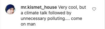 Instagram post - Biden global warming criticism 1