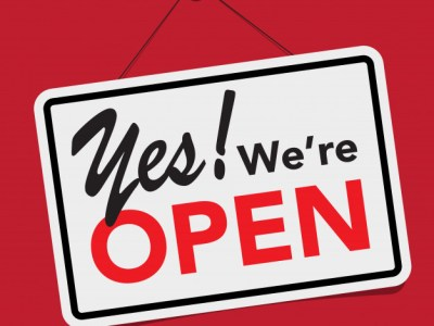 Now Open as Normal