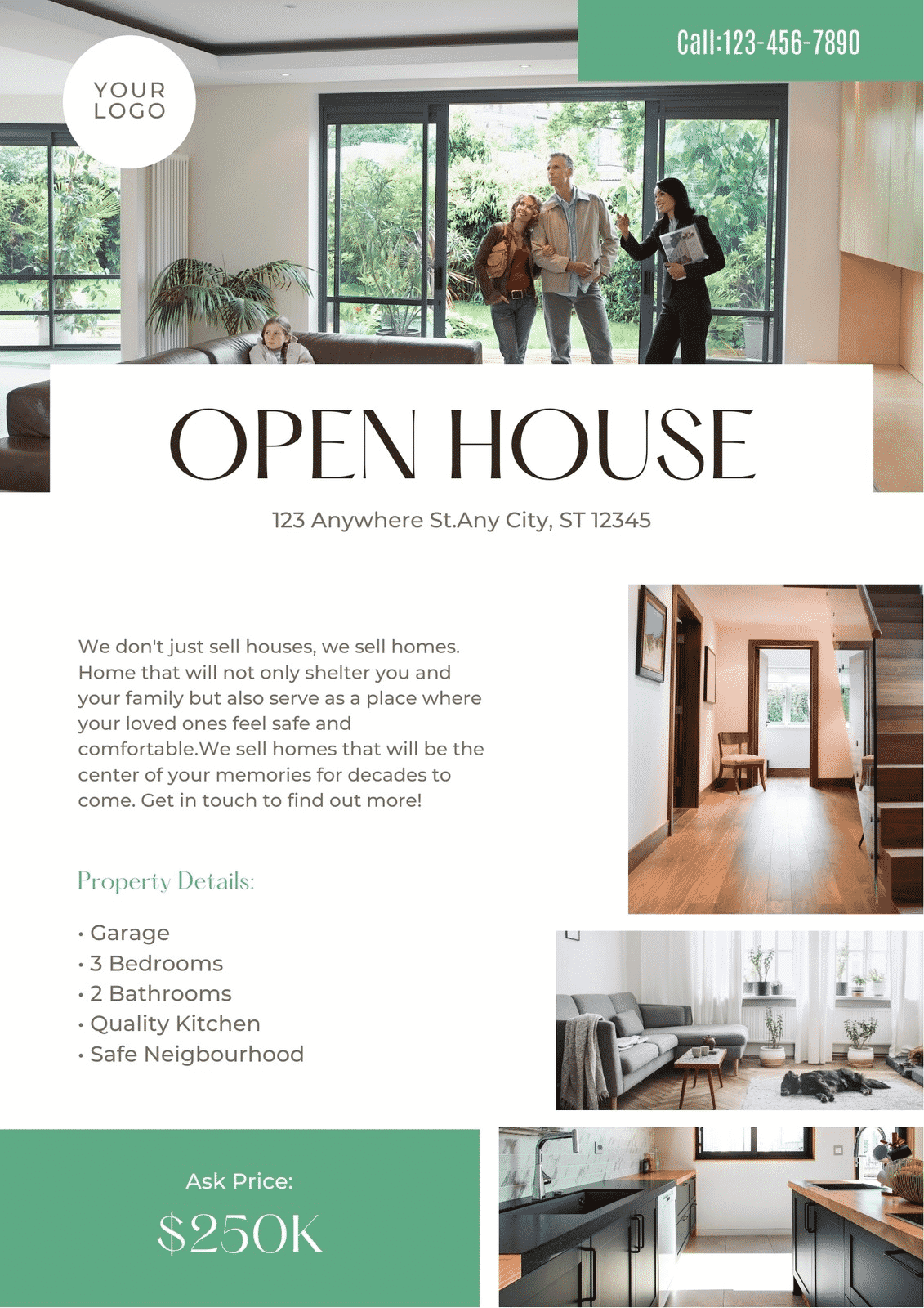 A page template, or web page template, often refers to a predesigned web page that you can customize. 14 Open House Flyer Templates Your Clients Will Love