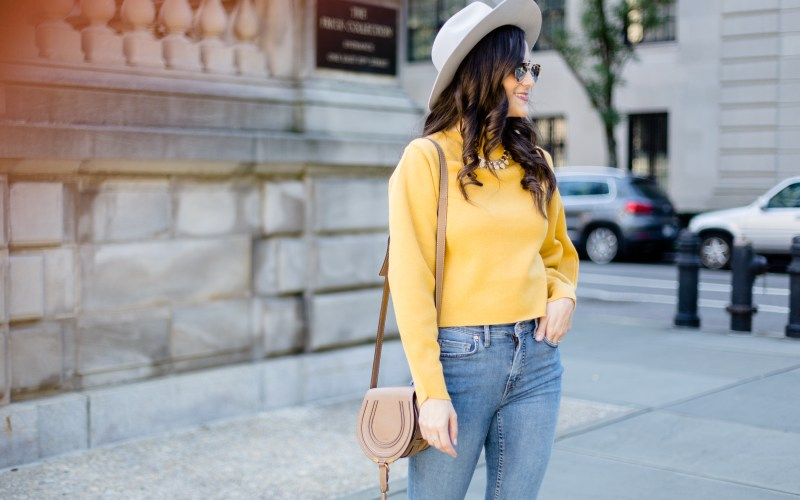 Structured Yellow Sweater & $1000 Nordstrom Giveaway
