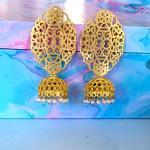 Amirah Golden Filigree Jhumkas