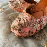 Peachy Pink Affair festive juttis