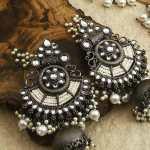 Asmita Oxidised Jhumka Earrings