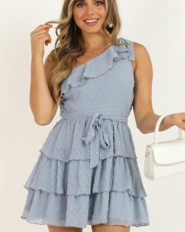 Showpo Darling I Am A Daydream Dress in powder blue - 18 (XXXL)