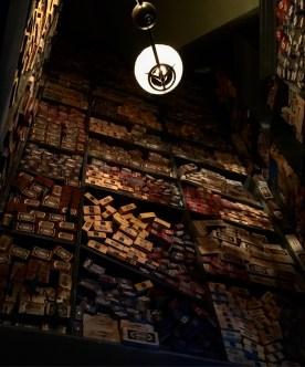 Ollivander's- so many wands.