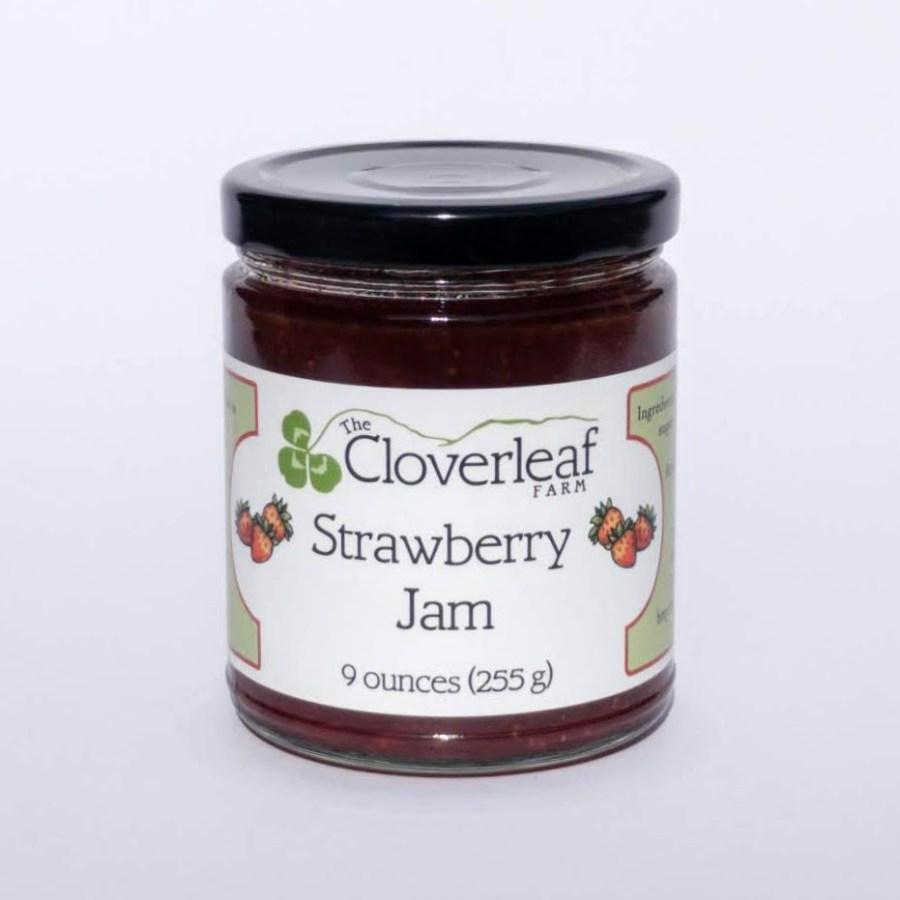 organic strawberry jam. 9 oz