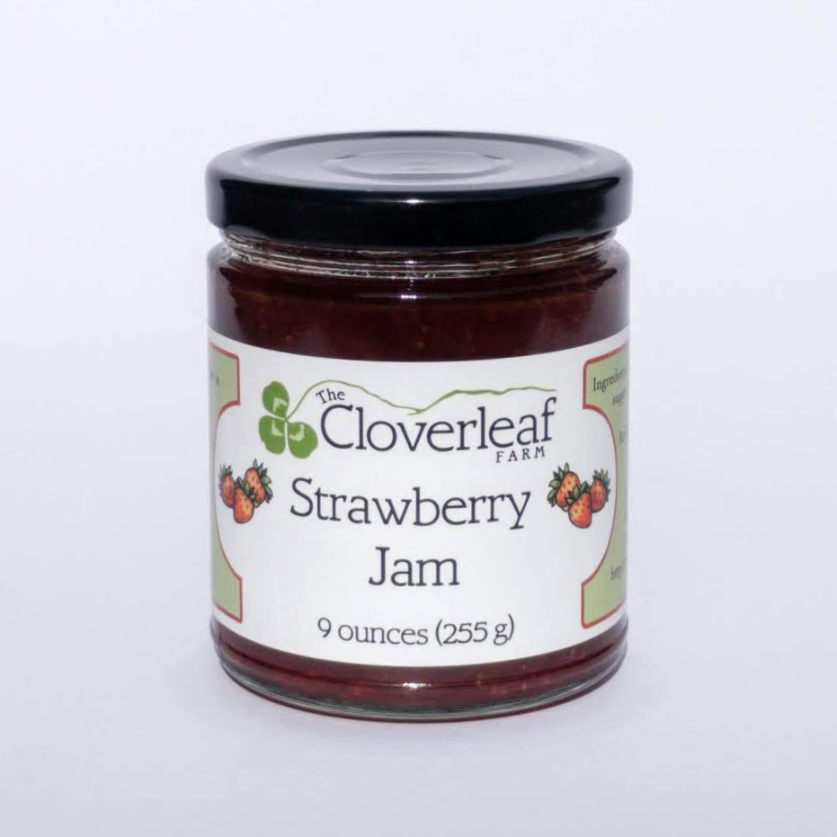 organic strawberry jam. 9 oz