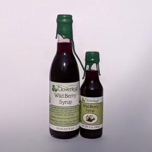 blended syrup of blackberries and elderberries