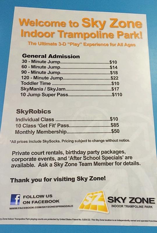 sky zone springdale voted the best