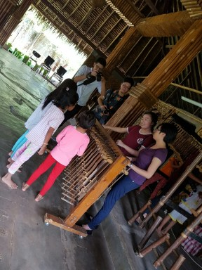 playing with angklung