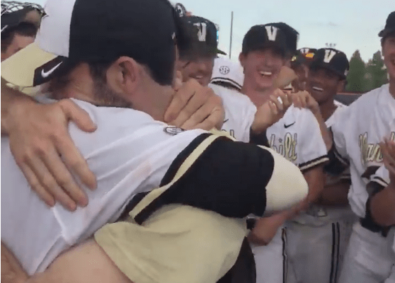 Dansby Swanson Goes First in the MLB Draft… See How his Vanderbilt Teammates Reacted!