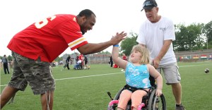The Kansas City Chiefs host local special needs children in Play 60 Linebackers Adaptive Training Camp.