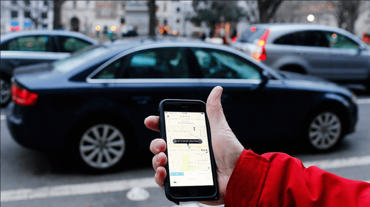 iphone with uber app