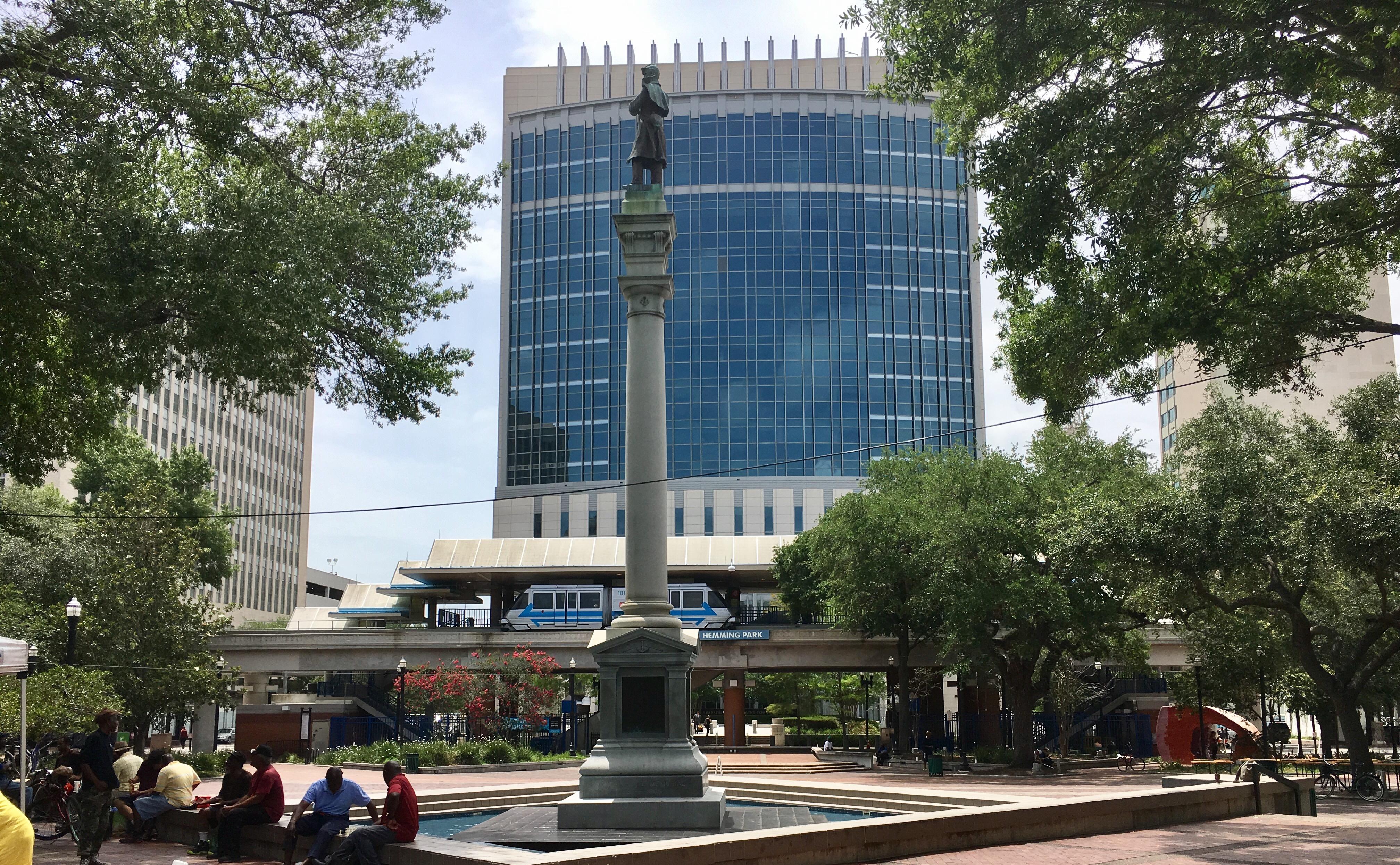 Confederate monument in Hemming Park