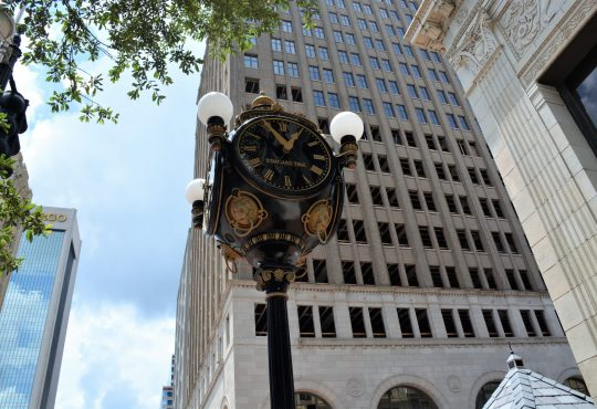 Jacobs Jewelers street clock, downtown Jacksonville, FL