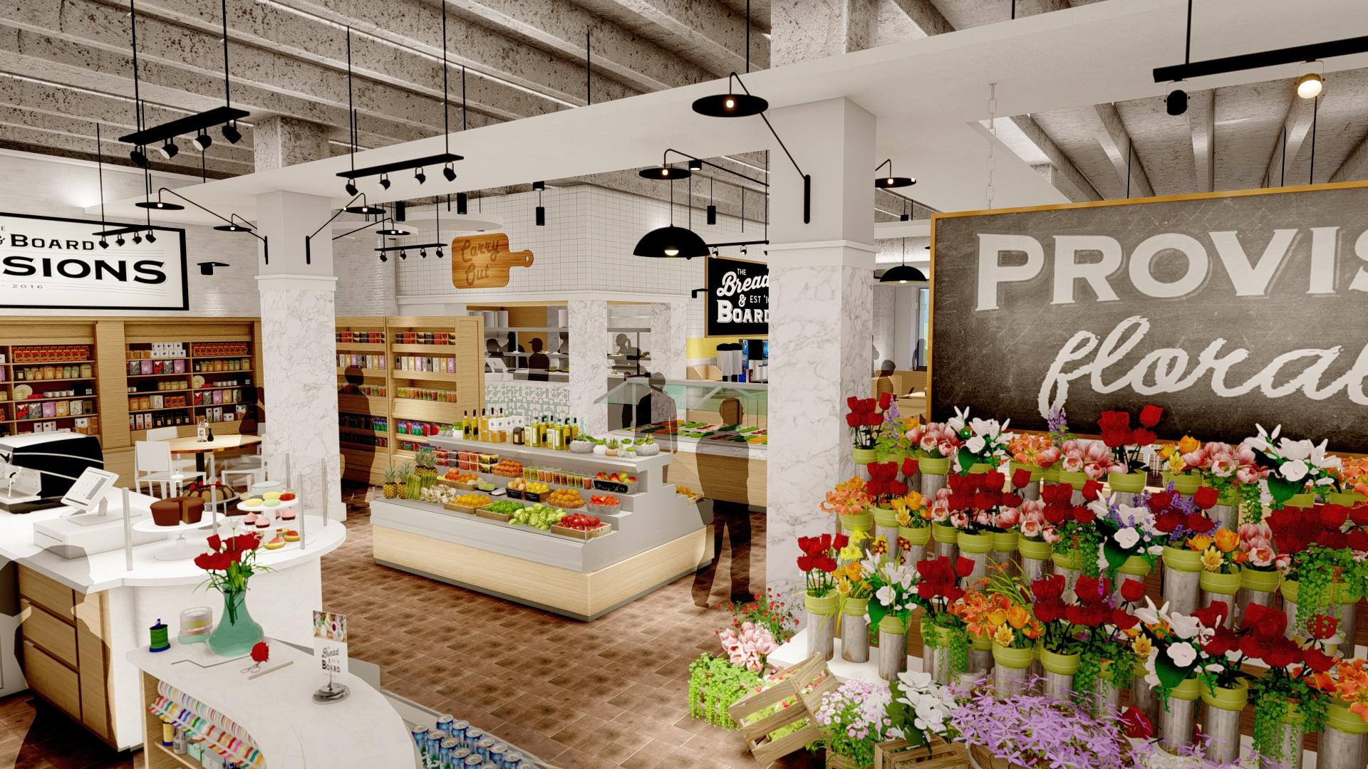Bread & Board Provisions rendering, Jacksonville, FL