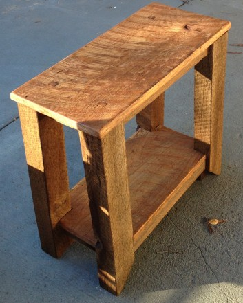 Reclaimed White Oak, hand planed, oiled natural finish. www.thecoastalcraftsman.com