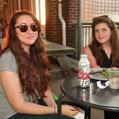 Middletown Township residents Danielle Anderson and Morgan Mescal were at the Beach Bar June 8.
