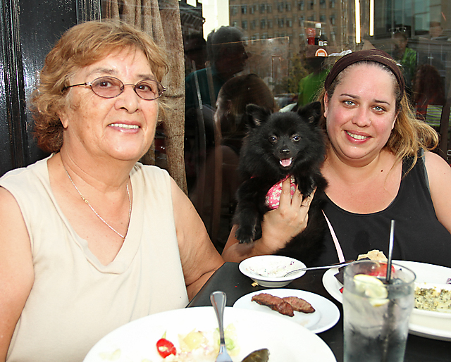 Maria Noll of Hillsborough and Patricia Noll, Jefferson enjoyed a meal at Brickwall in Asbury Park.