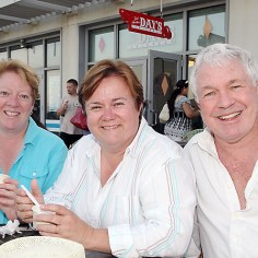 Enjoying ice cream at Day's on the Asbury Park boardwalk were Gail Rosewater, Barbara Krzak and Steven Macy, all of Asbury Park.