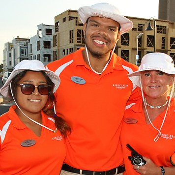 Members of the waterfront crew in Asbury Park are Janelly Aparicio, Kevin Ewere and Shannon McIntyre.