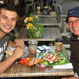 At the Barbaric Bean in Ocean Grove were Matt and Ben Califano of Matawan.