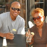 Enjoying a beverage at Brickwall Tavern in Asbury Park were Trevor E. Dickerson of Neptune and Barbara Dickerson of Neptune City.