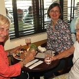 Enjoying a night out at Moonstruck in Asbury Park were Marit Fredericks, Ocean Grove; Judy Long, Philadelphia and Ginnie Dufresne, Ocean Grove.