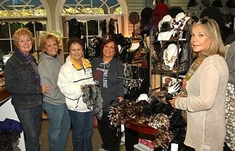 At the Antique Emporium on Cookman Avenue in Asbury Park were (from left) Jane Johnson, Eileen Casbarro, Hewitt; Rosemary Ferralasco, Ringwood and Leslie Lofopese, Totawa. At right is Michelle Stein of the Emporium.