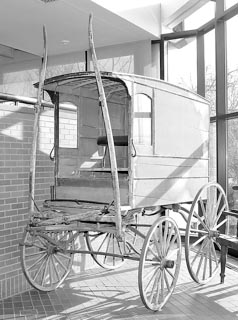 Coaster Photo: This horse drawn carriage  (above) and a linotype machine (pictured below) are being donated to the Asbury Park Historical Society by the Gannett Corporation, publishers of The Asbury Park Press.