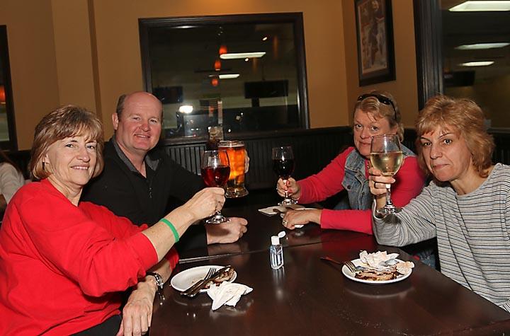Linda Deveau, Ocean Grove; Randy and Carol Forstenhausler, both of Helmetta and Karen Giacobbe, Ocean Grove enjoyed a meal at the Ground Round in Bradley Beach.