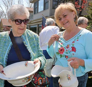 Marie Johnston & Beverly Johnston, Avon - We look for anything and everything.But you have to shop around at garage sales. You have to look around. We've made wonderful finds.