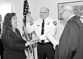 Coaster Photo: Capt. Anthony Salerno was sworn in as the Asbury Park deputy police chief during a ceremony last week.