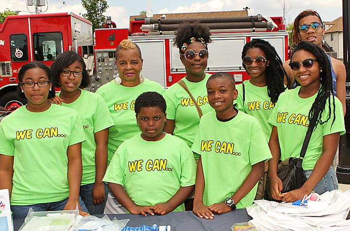 """This group of local youngsters from Youth Time to Shine were at the Super Safe Summer event at Springwood Park in Asbury Park. At the event the """"We Can"""" campaign was launched which supports anti-drug efforts in the city."""