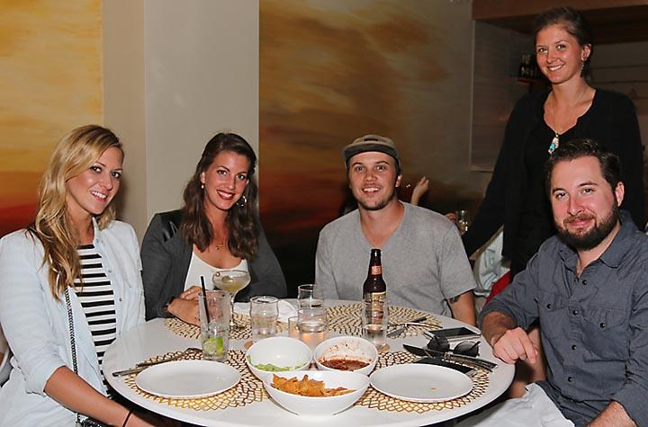 At Goldie's restaurant on Cookman Avenue in Asbury Park Kadye Kerber waited on Erika Wendel, Tinton Falls; Kirsten Holt, Hillsborough; Jason Morris, Hillsborough and C.J. O'Rourke, Asbury Park.
