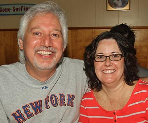 Tony & Barbara Anzano, Farmingdale - We say no, they should not. It's attached to a team that's been around for a very long time. And it's a football team. And the term, we don't feel is racial or offense in any way.
