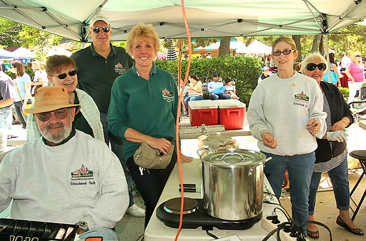 Volunteering at the refreshment stand at the flea market in Ocean Grove Sat., May 31 were Lou Mitchell, M. Ayres, Fred Ohleth, Linda Conselysa, Jean Mitchell and Susan Taylor.